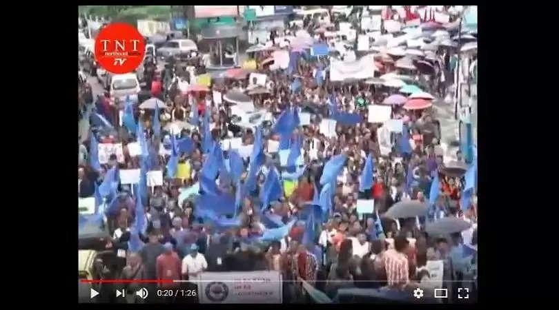 WATCH | 'Long live Khasi Language' chants reverberate in Shillong streets