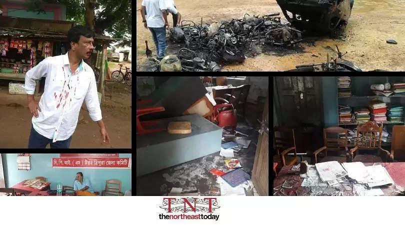 Tripura marred by violence ahead of Panchayat Polls