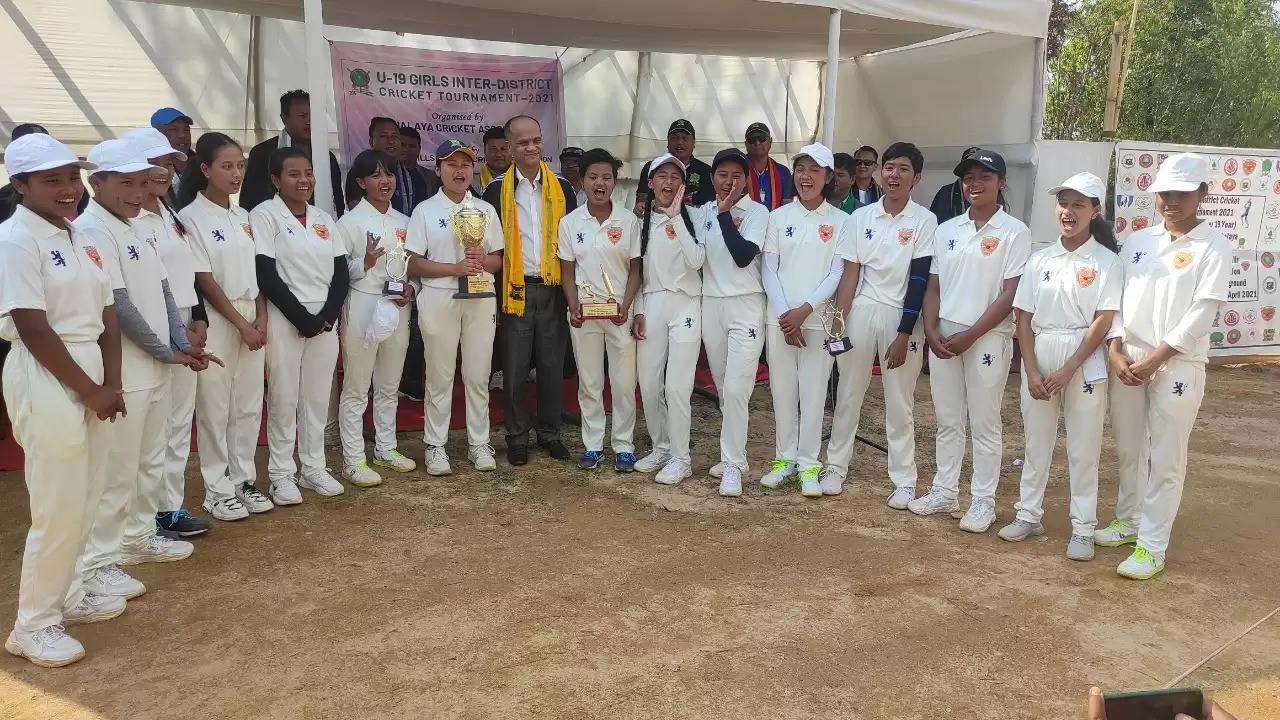 WKHDCA crowned Meghalaya Cricket Association's U-19 Girls Inter District Tournament 2021 champs